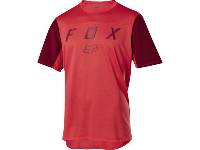 Fox Flexair Moth Jersey korte mouwen Heren, bright red